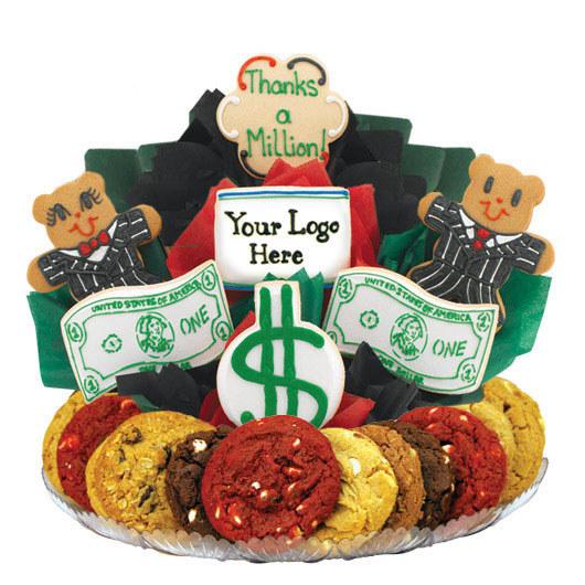Dollar Signs & Bills Gourmet Gift Basket