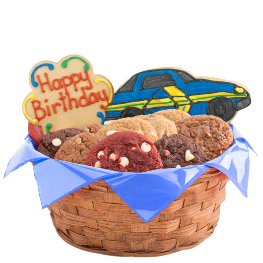 Birthday Race Cars Cookie Basket