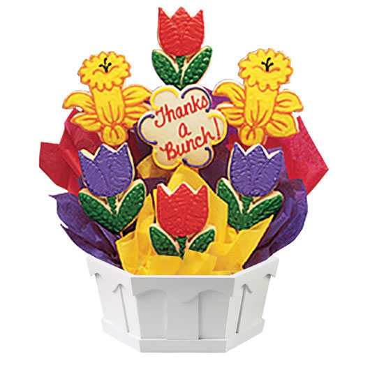 Tulips and Daffodils Cookie Bouquet