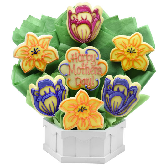 Mother's Spring Blossoms Cookie Bouquet