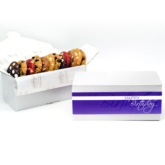 Happy Birthday Gift Box 1 Dozen Gourmet Cookies