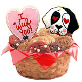 W509 - I Wuf You Basket